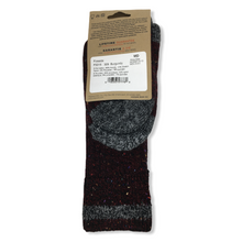 Load image into Gallery viewer, Unisex Cotton Blend Fireside Burgundy Crew Socks - Crabapple