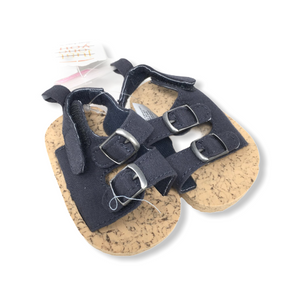 Baby Navy Strappy Sandals - Crabapple