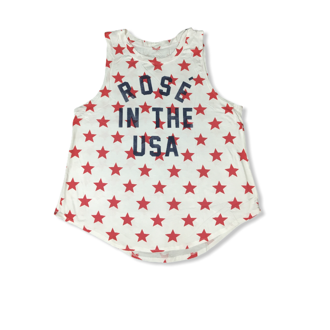 Women's Rosé in the USA Patriotic Tank - Crabapple
