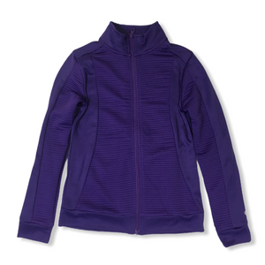 Girls' Purple Long-Sleeve Zip-Up Athletic Shirt - Crabapple
