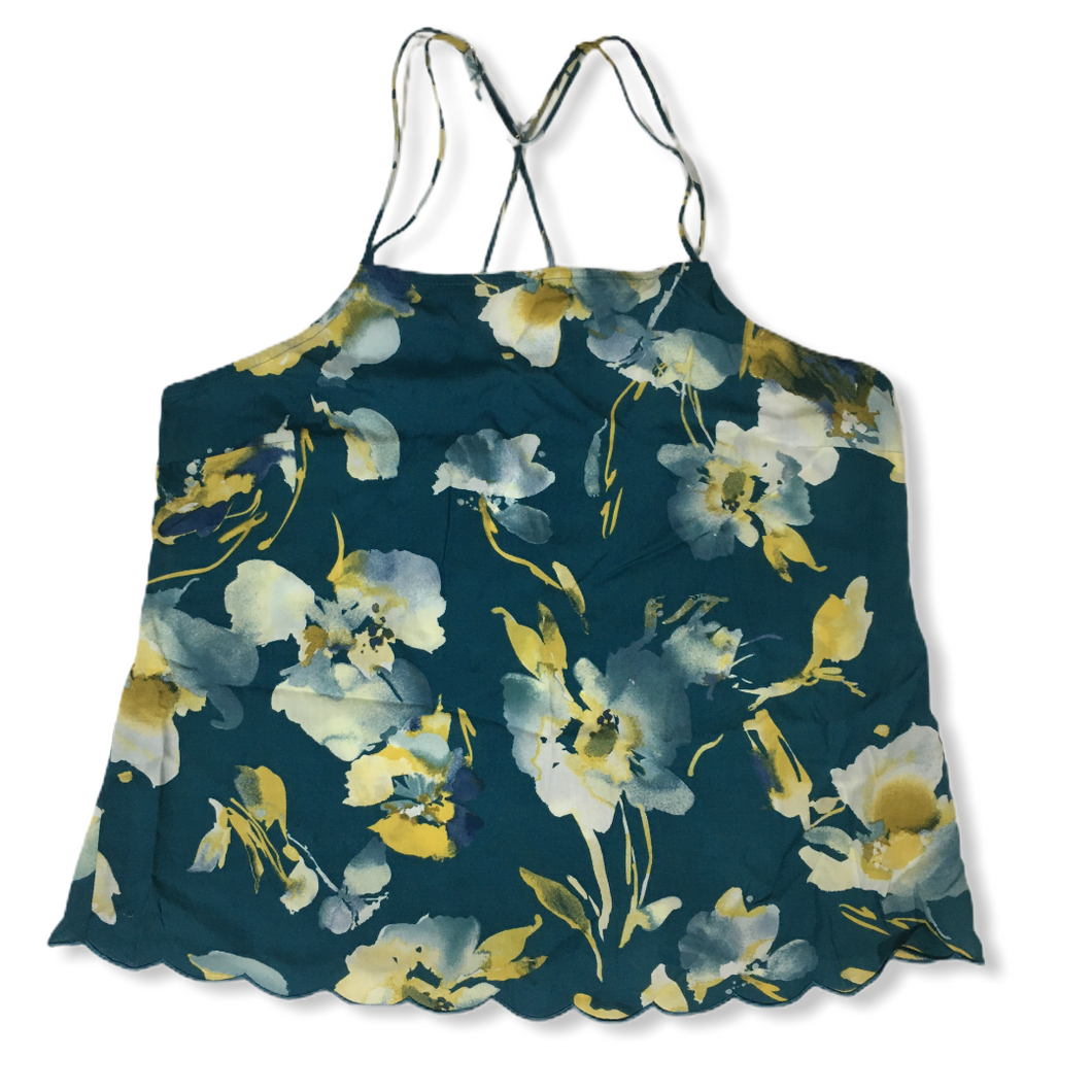 Women's Zoom Teal Floral Top - Crabapple