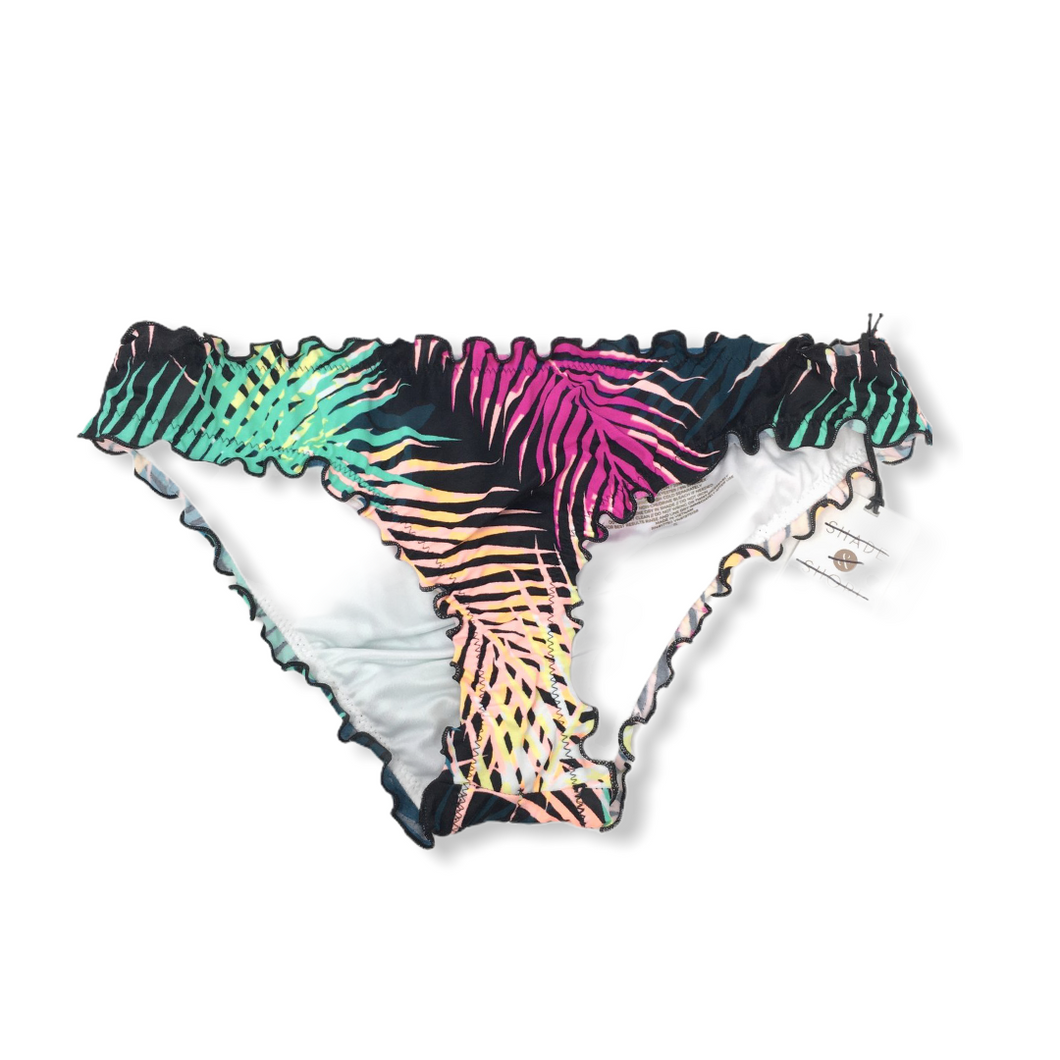 Women's Multi Color Ruffle Cheeky Swimsuit Bottoms - Crabapple