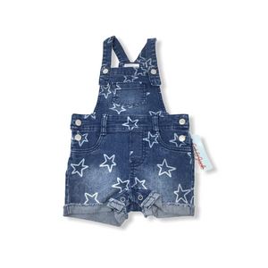 Baby Jean Overalls with Stars - Crabapple