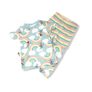 Baby Rainbow Fairies Pajamas 4 Piece Set - Crabapple