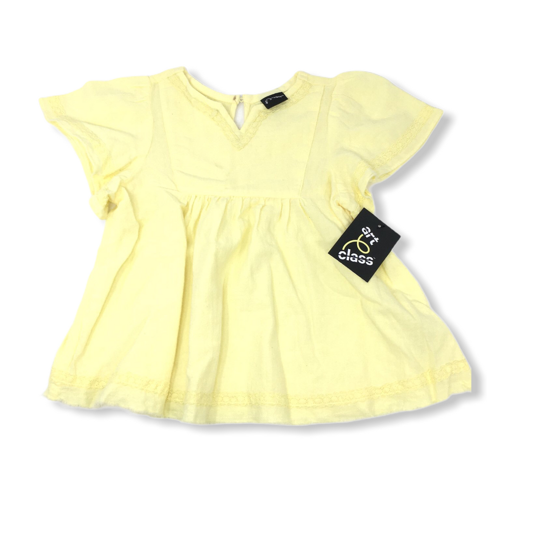 Toddler Yellow Blouse with Pretty Stitching - Crabapple