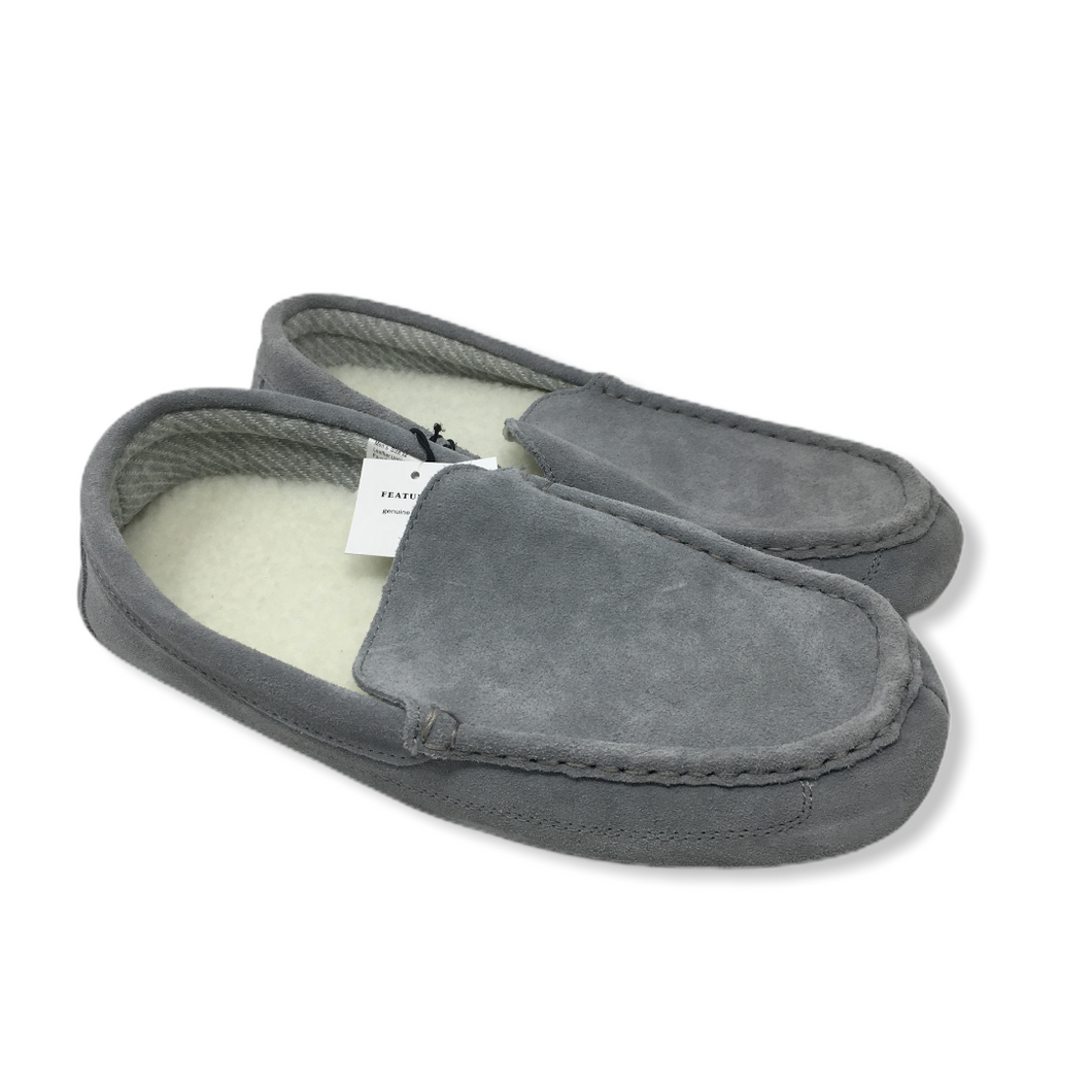 Men's Grey Charcoal Slippers - Crabapple