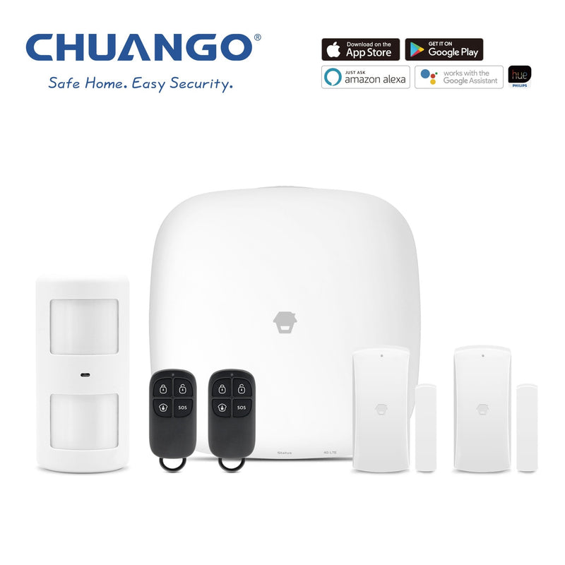 Chuango H4-LTE (WiFi & 4G) 'Starter Kit' Wireless DIY Smart Home Security Alarm - YourSmartLife