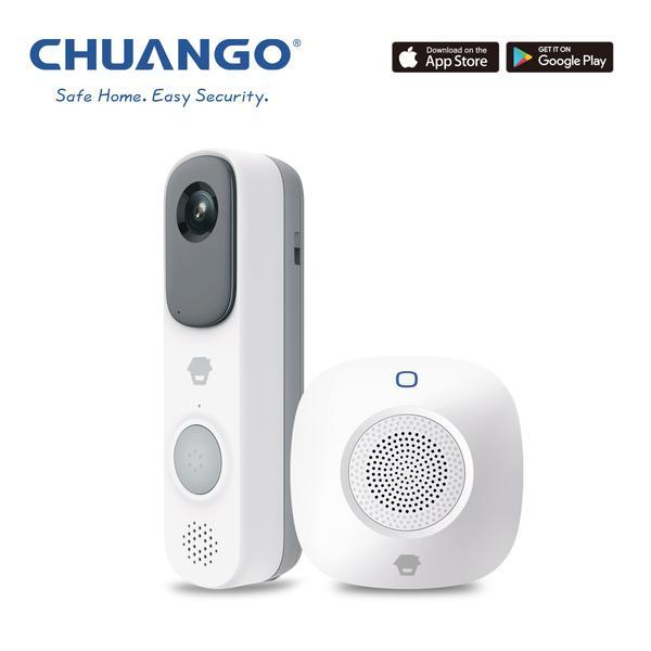 Chuango - Video Doorbell - Battery Powered - Easy Install - YourSmartLife