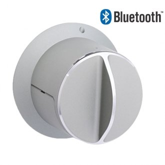 SALTO danalock BLE Bluetooth deadbolt. Silver finish. - YourSmartLife