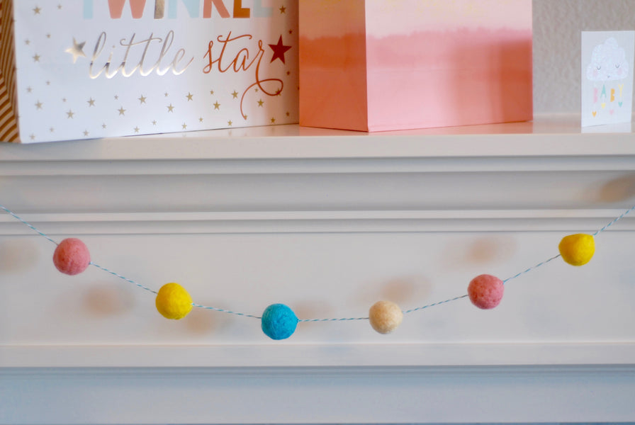 DIY Wool Pom Pom Garlands