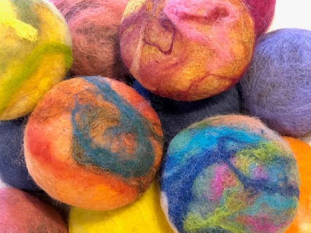 Closeup of Felted Soap