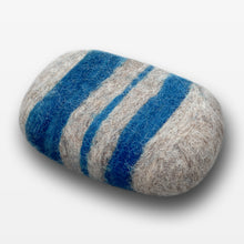 Load image into Gallery viewer, Bay Rum Striped Felted Soap Gray