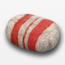 Load image into Gallery viewer, Cinnamon Oat Striped Felted Soap Gray