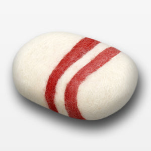 Cinnamon Oat Striped Felted Soap White