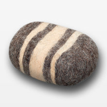 Load image into Gallery viewer, Citrus Blossom Striped Felted Soap Brown