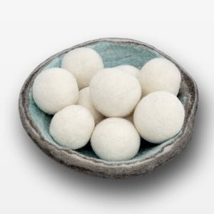 Wool Dryer Balls in Geode Bowl