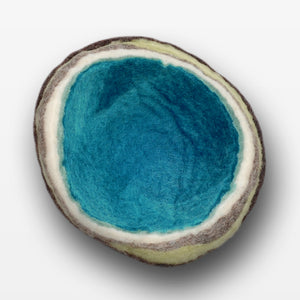 Small Emerald Geode Bowl