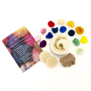 Fiat Luxe Felted Soap Kit Materials