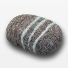 Load image into Gallery viewer, Lavender Sage Striped Felted Soap Brown