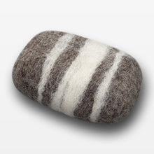 Load image into Gallery viewer, Lavender Striped Felted Soap Brown