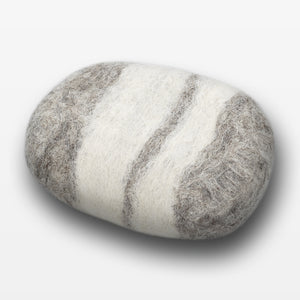 Lavender Striped Felted Soap Gray