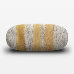 Lemon Ginger Striped Felted Soap Gray Side View