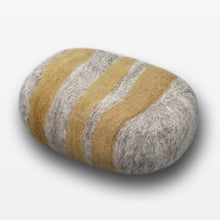 Load image into Gallery viewer, Lemon Ginger Striped Felted Soap Gray