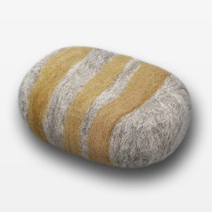 Lemon Ginger Striped Felted Soap Gray