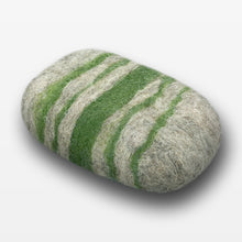 Load image into Gallery viewer, Verbena Striped Felted Soap Gray