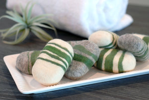 Verbena Striped Felted Soap