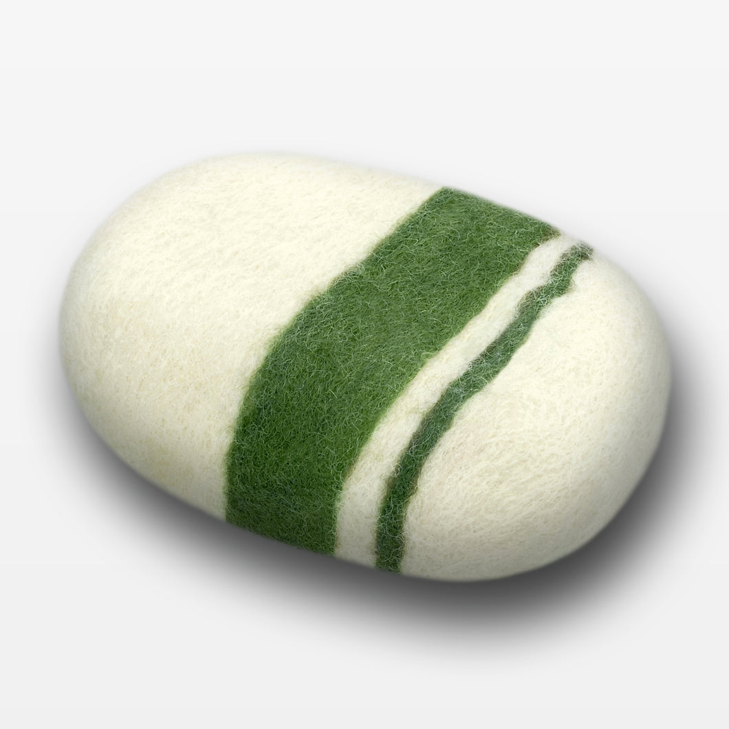 Verbena Striped Felted Soap White
