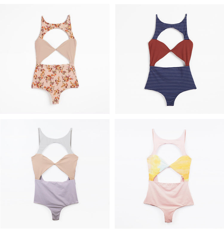 Boys + Arrows Champagne Charmaine One Piece Swimsuits