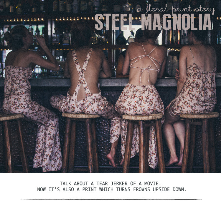 Steel Magnolia. A Floral Print Story.