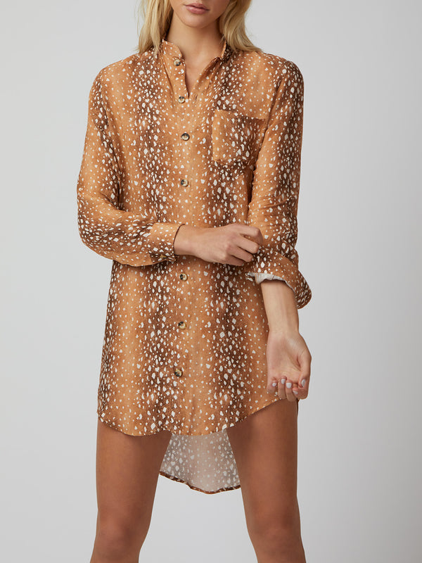 It's Not Me, It's You Shirt Dress - Bambi
