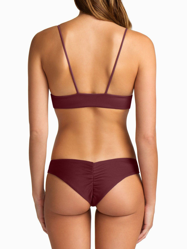 Dana the Delinquent Top - Burgundy