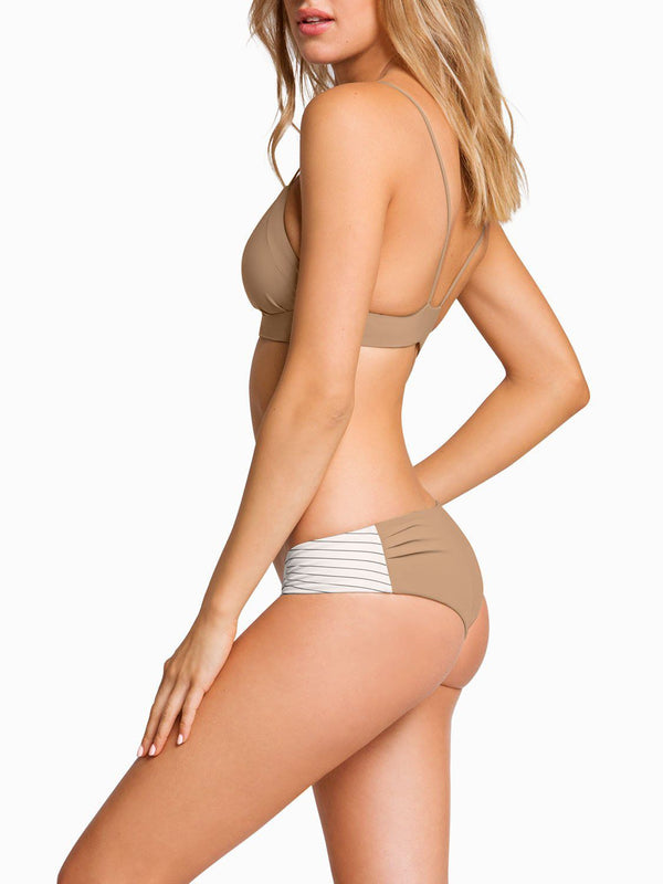 Boys And Arrows Bikini Top Dana the Delinquent Top - Taupe