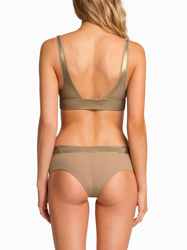 Boys And Arrows Bikini Top Phil Top - Taupe Party