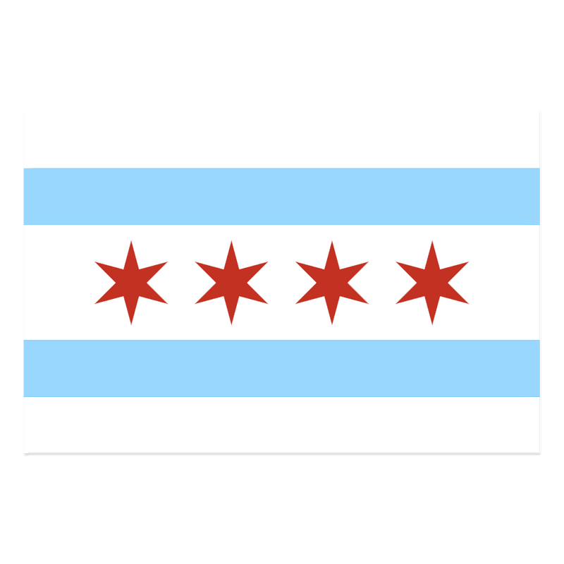 CHICAGO FLAG WINDOW DECAL