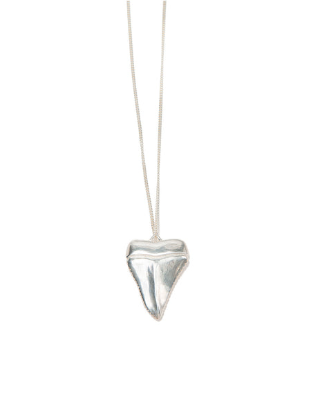 MEGA SHARK'S TOOTH NECKLACE SILVER