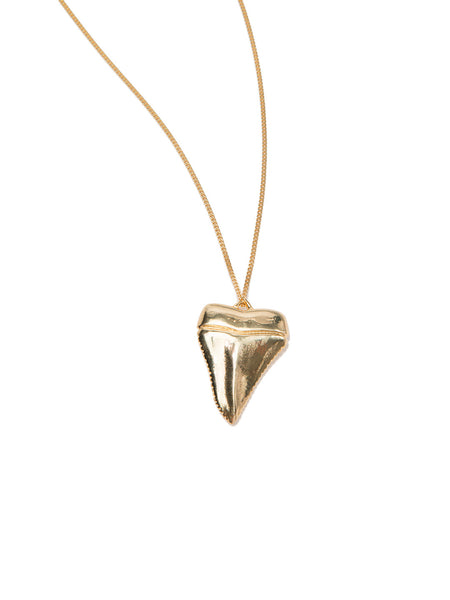 MEGA SHARK'S TOOTH NECKLACE GOLD