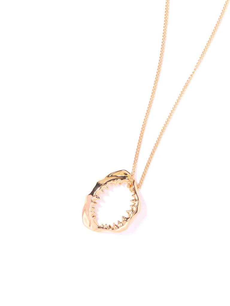 SHARKY NECKLACE GOLD NECKLACE - Venessa Arizaga