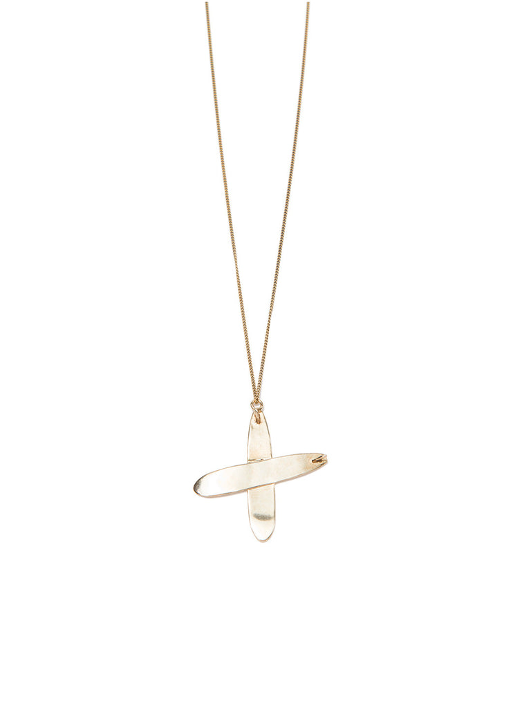 PRAY FOR WAVES NECKLACE GOLD NECKLACE - Venessa Arizaga