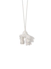 CORAL EVERYWHERE NECKLACE SILVER - Venessa Arizaga