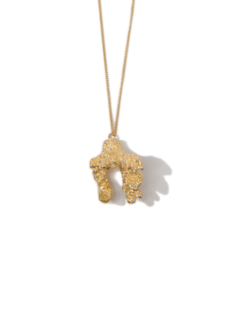 CORAL EVERYWHERE NECKLACE GOLD - Venessa Arizaga
