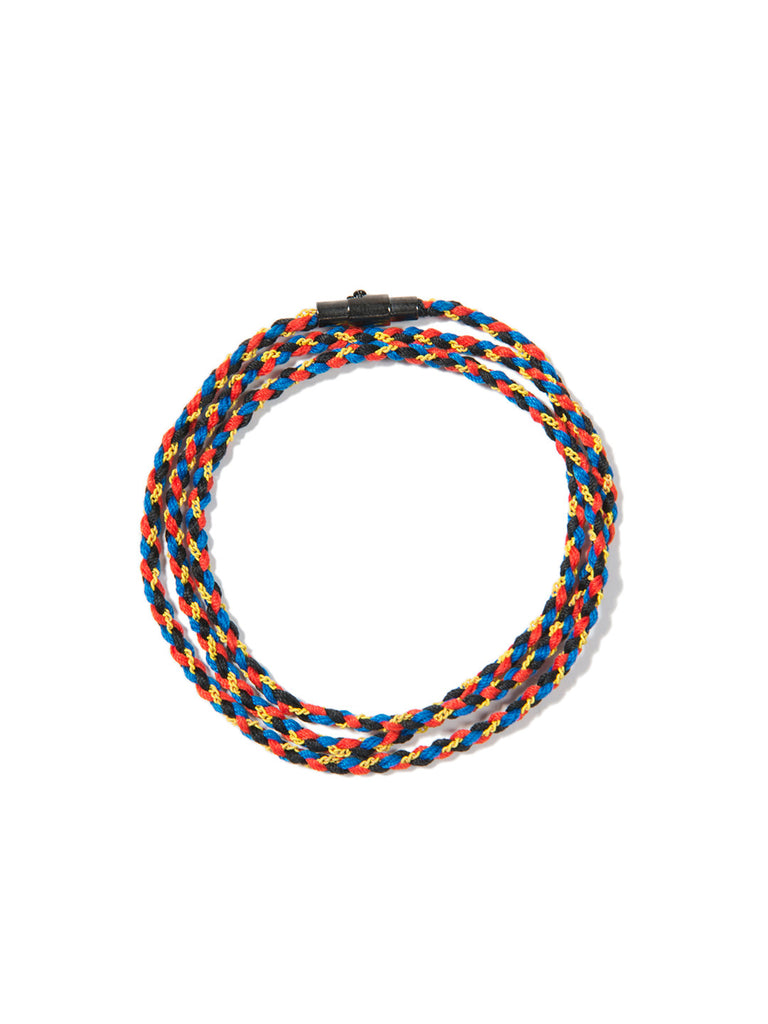 RIPTIDE TRIPLE WRAP BRACELET RED/YELLOW/BLUE - Venessa Arizaga