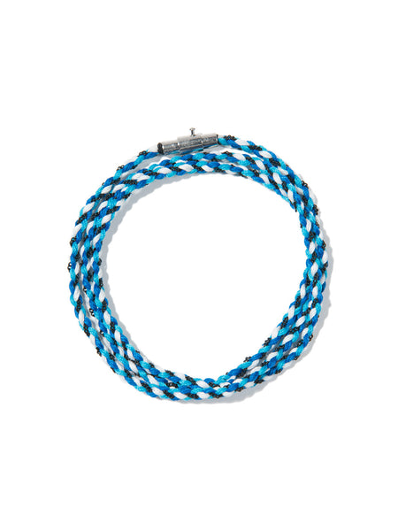 RIPTIDE TRIPLE WRAP BRACELET BLUE
