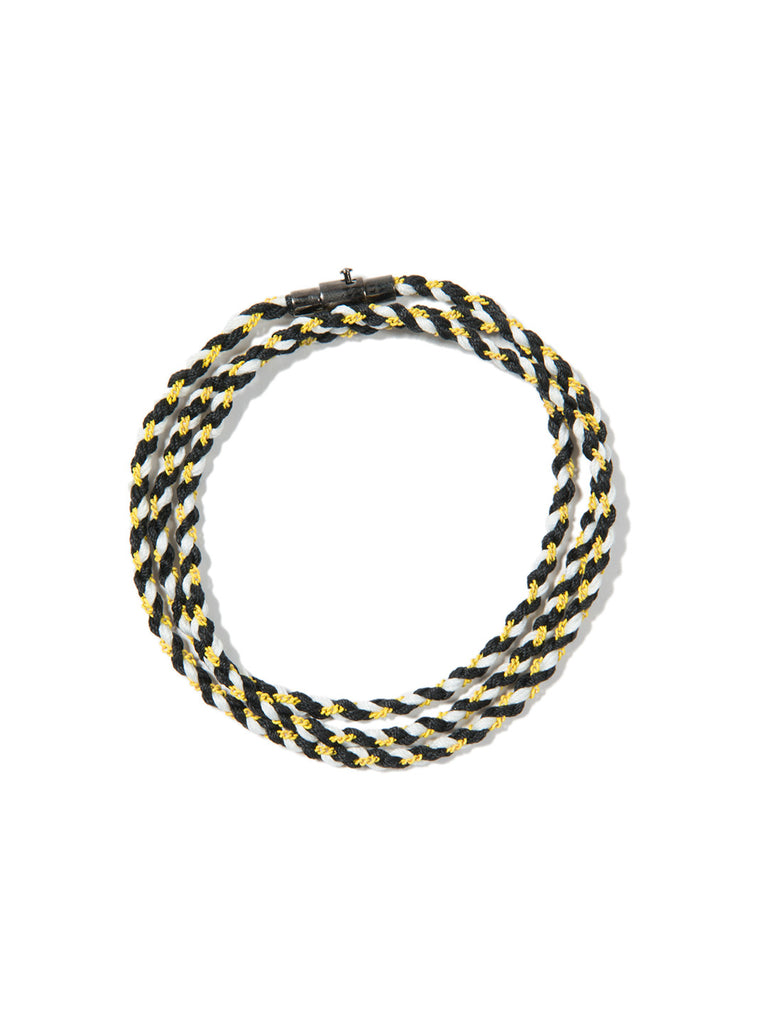 RIPTIDE TRIPLE WRAP BRACELET BLACK/YELLOW/WHITE BRACELET - Venessa Arizaga