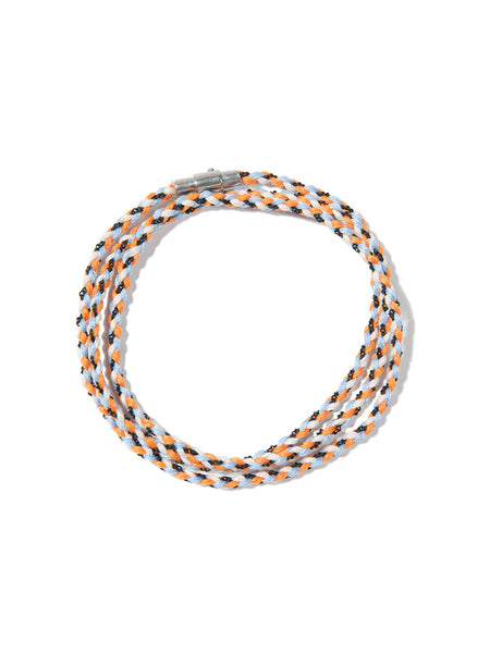 RIPTIDE TRIPLE WRAP BRACELET BLUE/ORANGE/WHITE