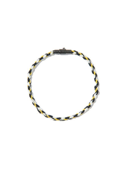 RIPTIDE SKINNY BRACELET BLACK/YELLOW/WHITE