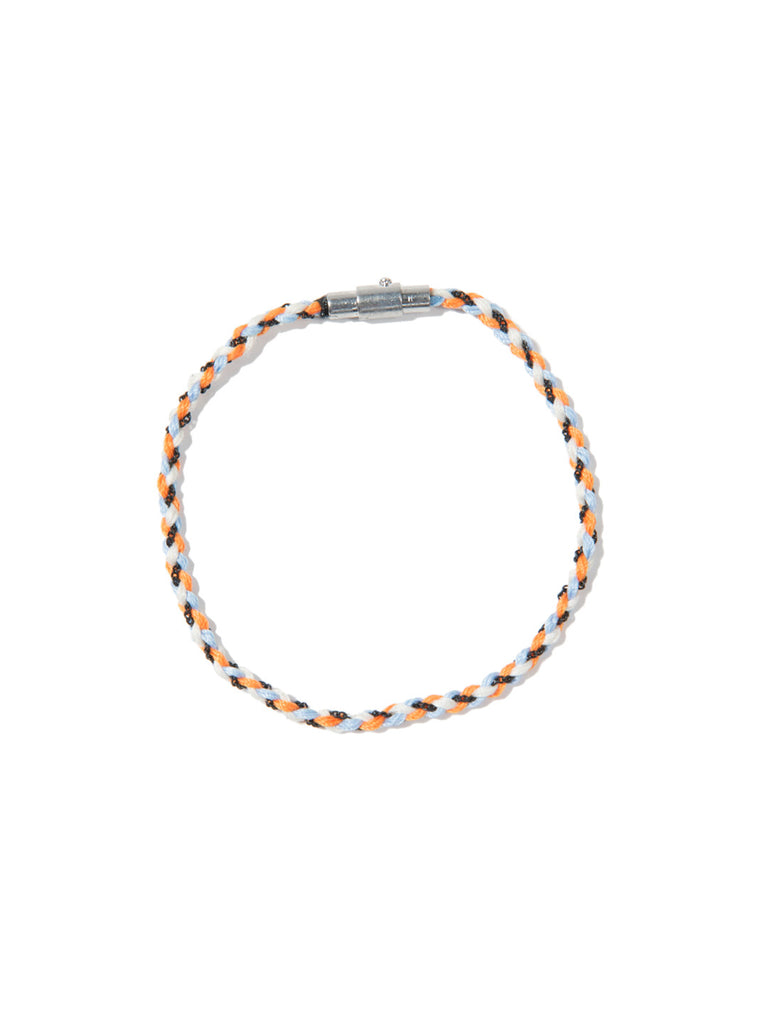 RIPTIDE SKINNY BRACELET BLUE/ORANGE/WHITE - Venessa Arizaga